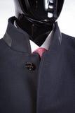 Żakiet, krawat koszula i krawat na czarnym mannequin, Zdjęcia Royalty Free