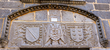 Żakiet ręki Franco Castile symbole Avila Hiszpania Obraz Royalty Free