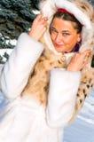 żakieta futerka kobieta Obraz Royalty Free