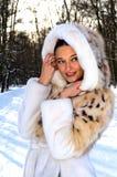 żakieta futerka kobieta Zdjęcia Royalty Free