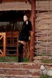 żakieta futerka kobieta Zdjęcie Stock