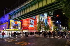 Akihabara is an Electric Town. TOKYO, JAPAN - NOVEMBER 25 2015: Akihabara is an Electric Town, Center of pop culture and the spirit of Japanese monozukuri Stock Images