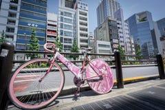 Akihabara rosa färgcykel på söndag Royaltyfri Foto