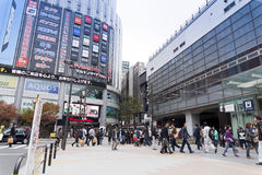 Akihabara station,TOKYO,JAPAN. TOKYO,JAPAN - NOV 9 : Akihabara station on November 9, 2013 Japan. Akihabara is a major shopping area for electronic, computer Royalty Free Stock Image