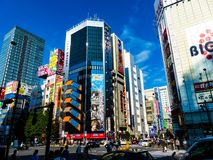 Akihabara. In tokyo japan on a bright sunny day Royalty Free Stock Photo