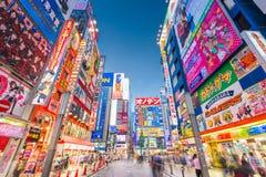 Akihabara, Tokyo, Japan Cityscape at Twilight royalty free stock photo