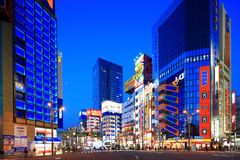 Akihabara,Tokyo,Japan. Tokyo,Japan - March 19:Twilight shot of Akihabara shopping area in Tokyo on March 19, 2013. Akihabara is one of best electronics shopping Royalty Free Stock Images
