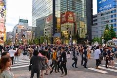 Akihabara, Tokyo, Japan. Tokyo, Japan - May 14, 2017: The parades of portable shrines, Mikoshi, are passing along Akihabara area during Kanda Matsuri festival Stock Photos