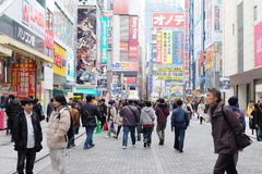 Akihabaragebied in Tokyo, Japan Het wordt ook genoemd Akiba Stock Foto's