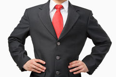Akimbo businessman body Royalty Free Stock Images