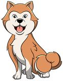 Akita Cartoon Dog vektor illustrationer