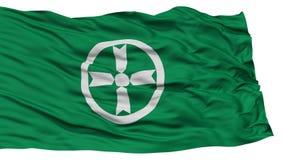 Akita Flag d'isolement, capitale de préfecture du Japon, ondulant sur le fond blanc Illustration Libre de Droits