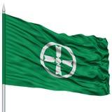 Akita Flag sur le mât de drapeau, capitale de préfecture du Japon Illustration Stock