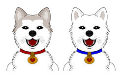Akita Inu cartoon Stock Images