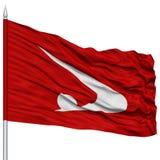 Akita Japan Prefecture Flag aislada en asta de bandera Foto de archivo libre de regalías