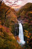 Akiu vattenfall, Akiu Otaki Arkivfoto