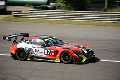Akka ASP Mercedes-AMG GT3 at Monza. The Autodromo Nazionale Monza hosted the first endurance race of 2017 Blancpain GT Series Stock Image