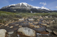 Akka Mountain in Sarek National Park Royalty Free Stock Photography