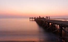 Akkarena strand på solnedgången Royaltyfria Foton