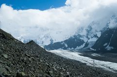 Akkem glacier on Altai Stock Photos