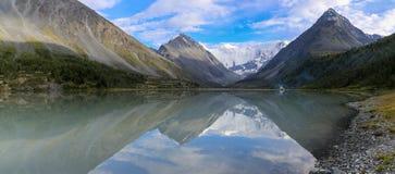 Akkem lake in August Royalty Free Stock Photo