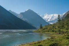 Akkem Lake, Belukha. Trekking in the Altai Mountains Stock Photography
