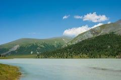 Akkem lake, morning. Trekking in the Altai Mountains Stock Photography