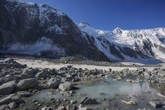Akkem ruver near Beluha mountain. Altai Stock Photography
