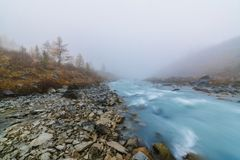 Akkem-Tal im Altai-Gebirgsnaturpark Lizenzfreies Stockbild