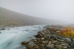 Akkem-Tal im Altai-Gebirgsnaturpark Stockfotografie