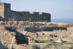 Akkerman堡垒是历史和13第15个世纪的城市规划的纪念碑 库存图片
