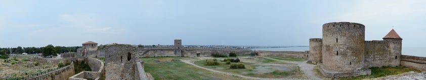 Akkerman堡垒,乌克兰全景  免版税库存图片