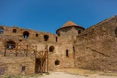 Akkerman Bilhorod-Dnistrovskyi fortress in Ukraine. Medieval castle. stock photo