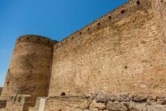 Akkerman Bilhorod-Dnistrovskyi fortress in Ukraine. Medieval castle. royalty free stock images