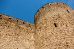 Akkerman Bilhorod-Dnistrovskyi fortress in Ukraine. Medieval castle. royalty free stock image