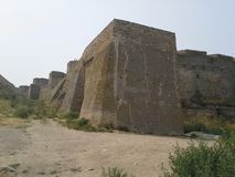 Akkerman castle in Odessa region, Ukraine. Angular tower built of stones Royalty Free Stock Photography