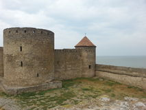 Akkerman tower and a rampart Royalty Free Stock Image