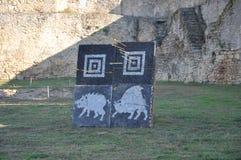 Akkermans堡垒是历史和13第15个世纪的城市规划的纪念碑 库存照片