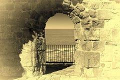 Akko墙壁在以色列 库存图片