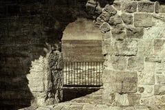 Akko墙壁在以色列 图库摄影