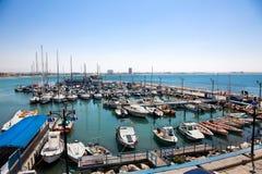 Akko有历史的港,以色列 免版税库存照片