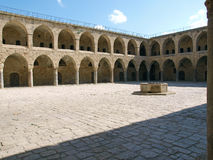 Akko Acre Israel Khan Al-Umdan Ottoman landmark Royalty Free Stock Photography