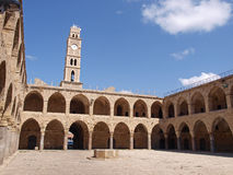 Akko Acre Israel Khan Al-Umdan Ottoman tower Stock Photography