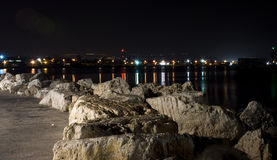 Akko (Acre) at night Stock Photo