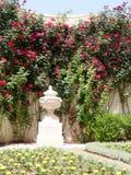 Akko Bahai gardens corner of flowers 2004 Royalty Free Stock Photo