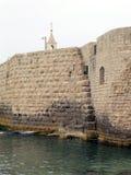 Akko forntida vägg 2004 Arkivbilder
