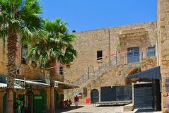 Akko israel Forntida stad i Mellanösten arkivbild