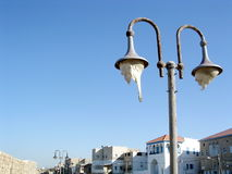 Akko old street lamp 2003 Stock Photo