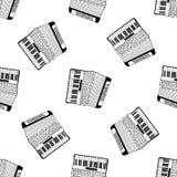 Akkordeonmusterhand gezeichnet Lizenzfreies Stockfoto