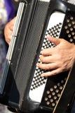 Akkordeonspieler Lizenzfreie Stockbilder